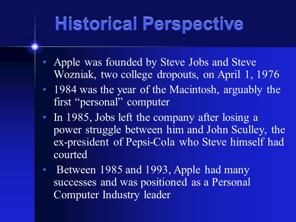 What lies ahead.The future of Apple Computer, Inc.