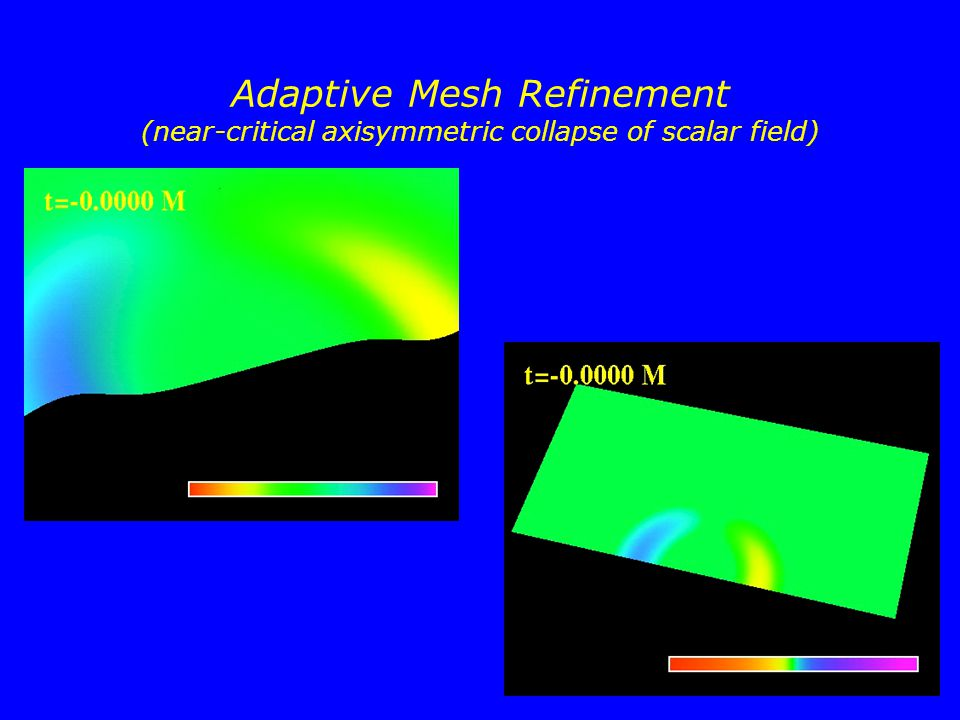 51 Adaptive Mesh Refinement (near-critical axisymmetric collapse of scalar field)