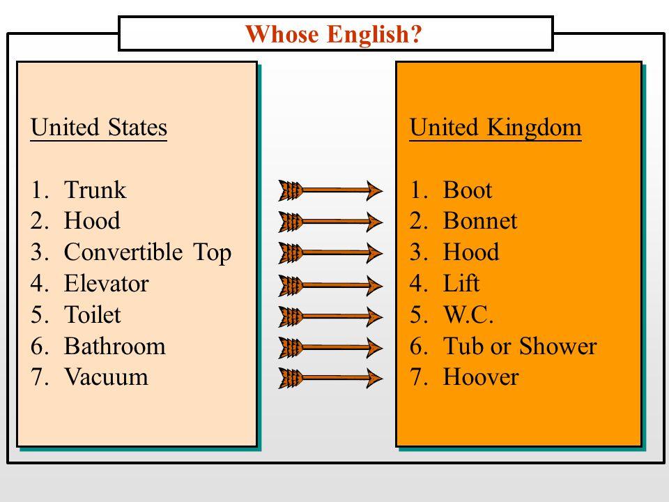 Whose English.