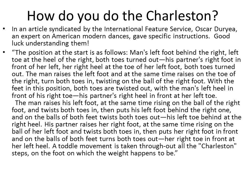 How do you do the Charleston.