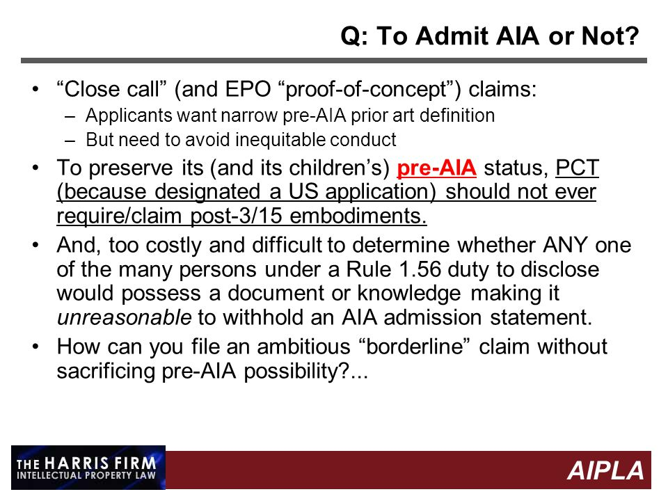 18 AIPLA Firm Logo Q: To Admit AIA or Not.