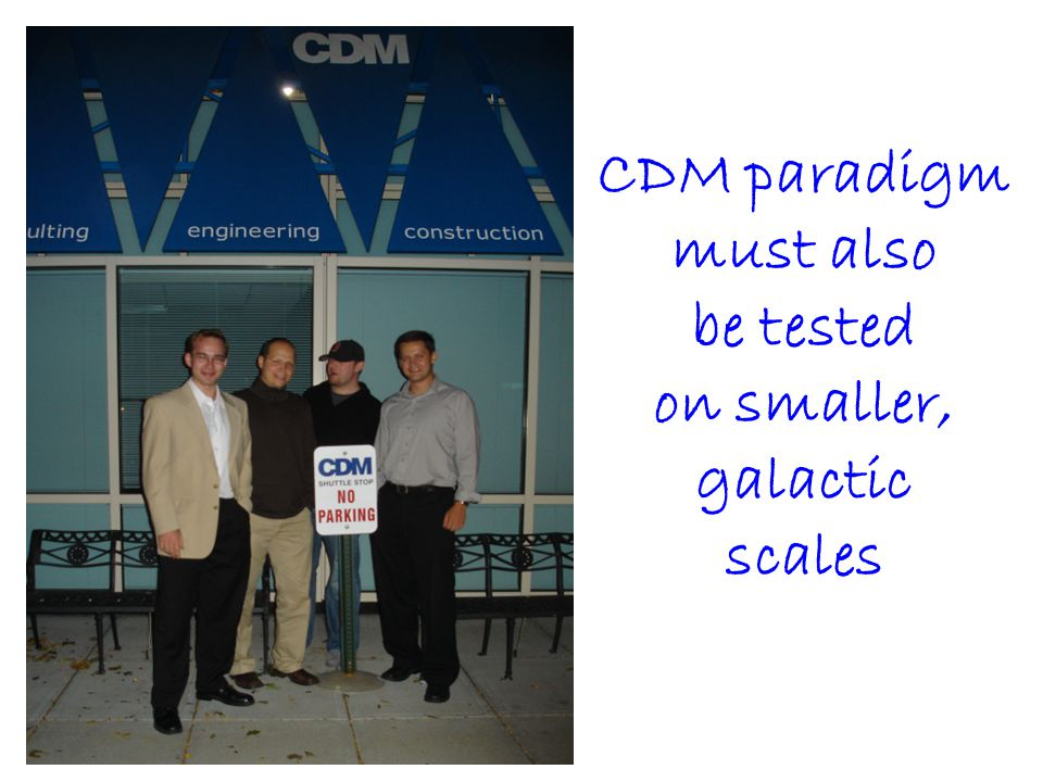 CDM paradigm must also be tested on smaller, galactic scales