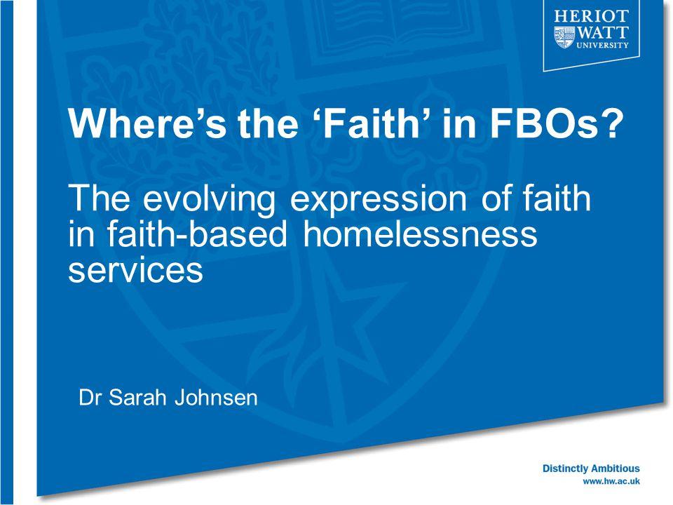 Where's the 'Faith' in FBOs.