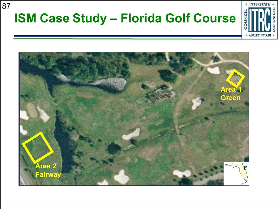87 ISM Case Study – Florida Golf Course Area 1 Green Area 2 Fairway
