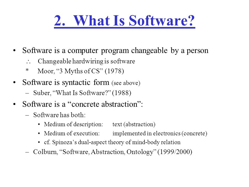 2. What Is Software.