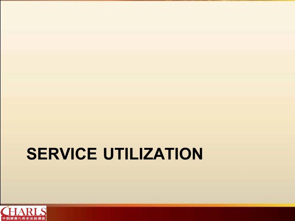 SERVICE UTILIZATION