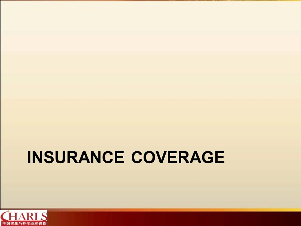 Most people are covered by some type of health insurance.