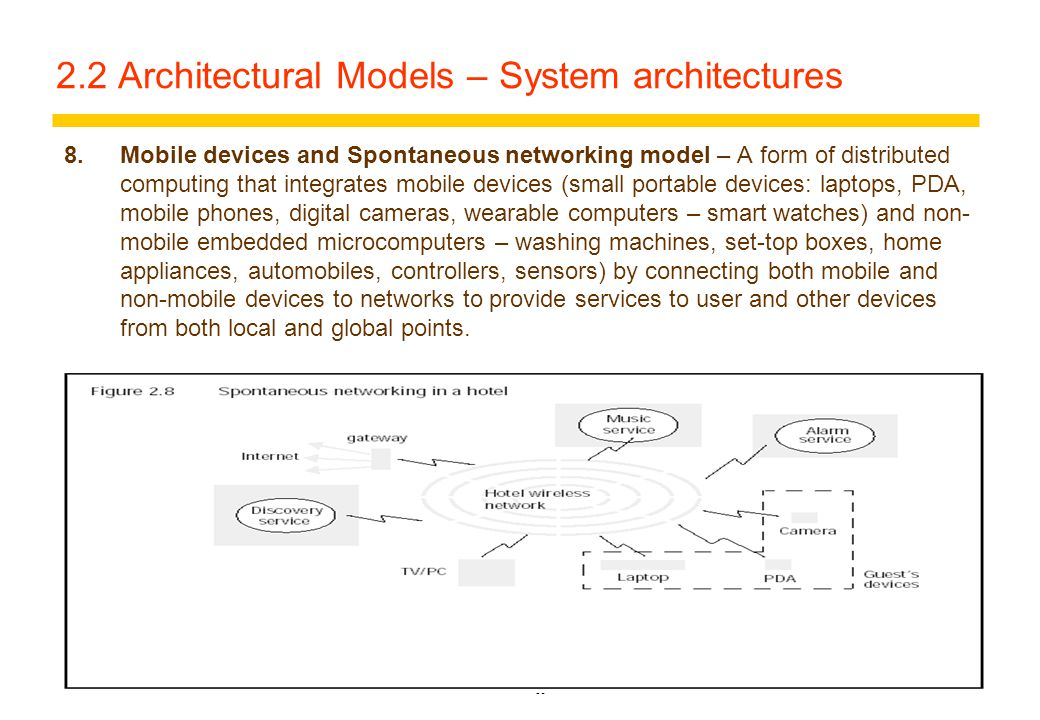14 2.2 Architectural Models – System architectures 7.