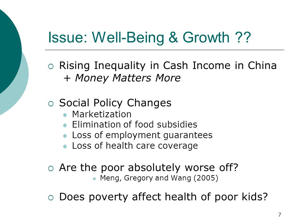 7 Issue: Well-Being & Growth .