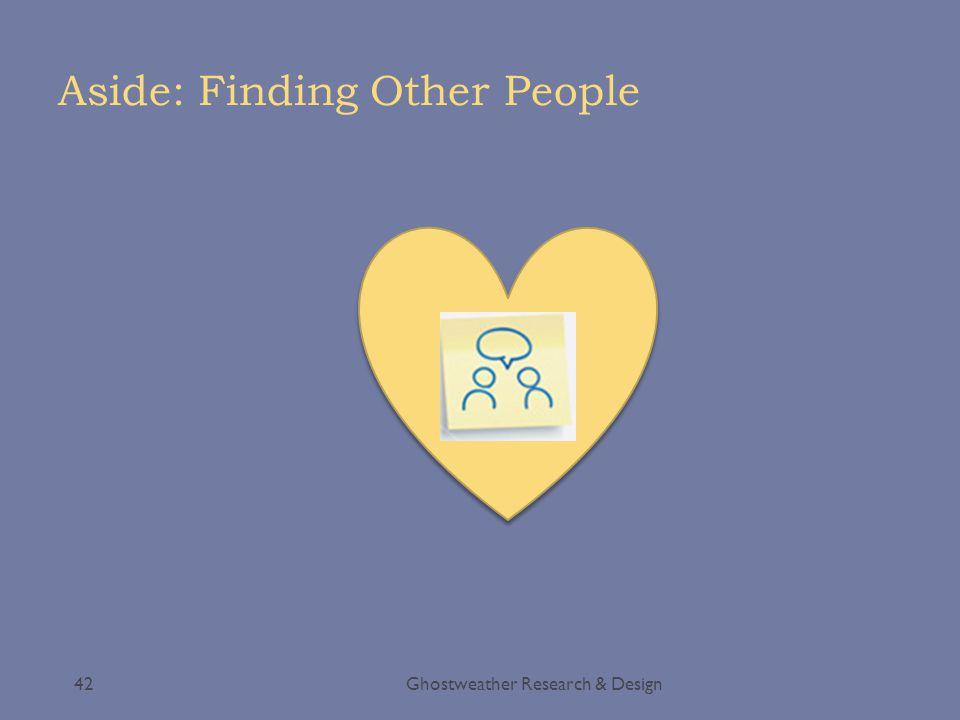 Aside: Finding Other People Ghostweather Research & Design42