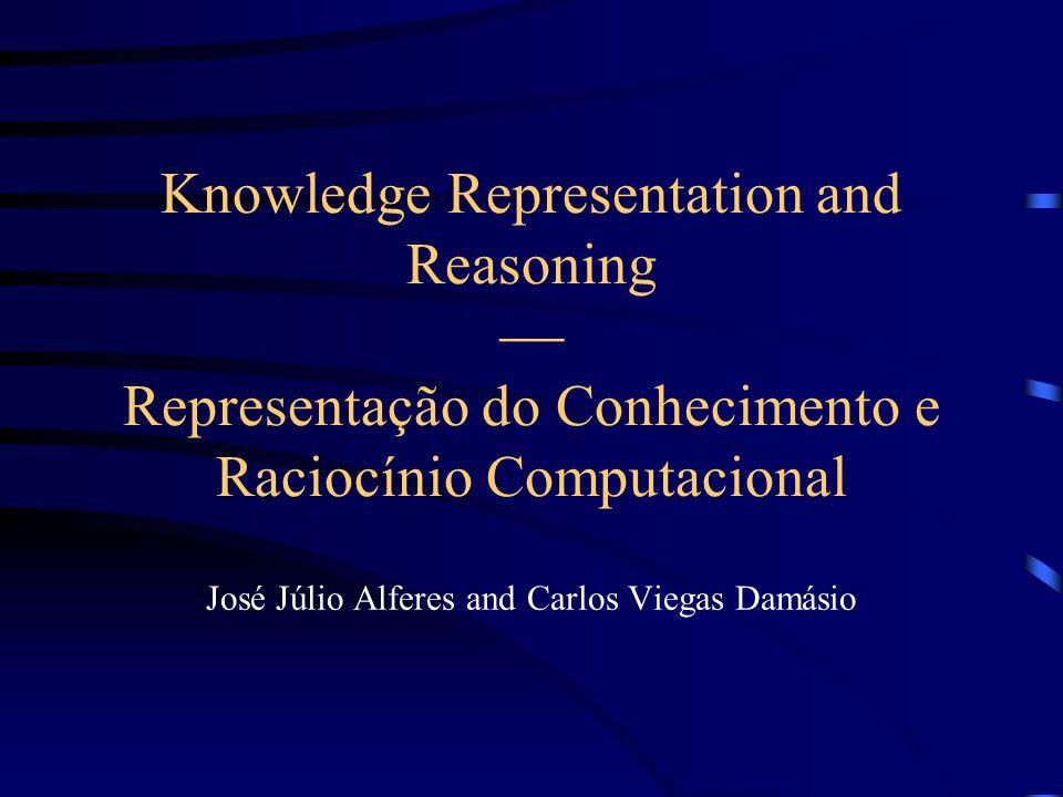 Knowledge Representation and Reasoning  Representação do Conhecimento e Raciocínio Computacional José Júlio Alferes and Carlos Viegas Damásio