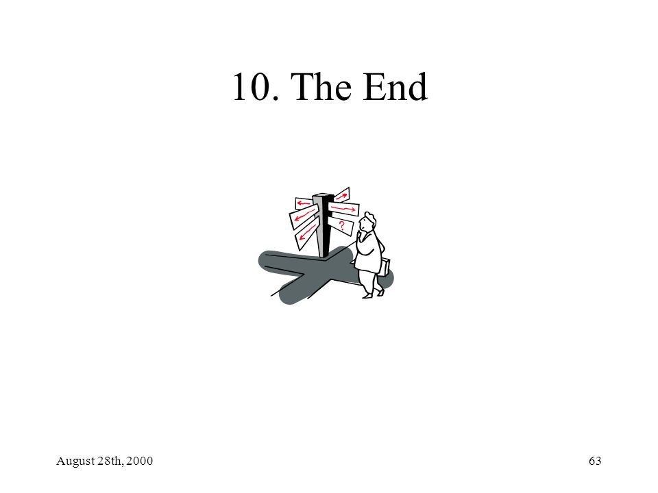 August 28th, 200063 10. The End