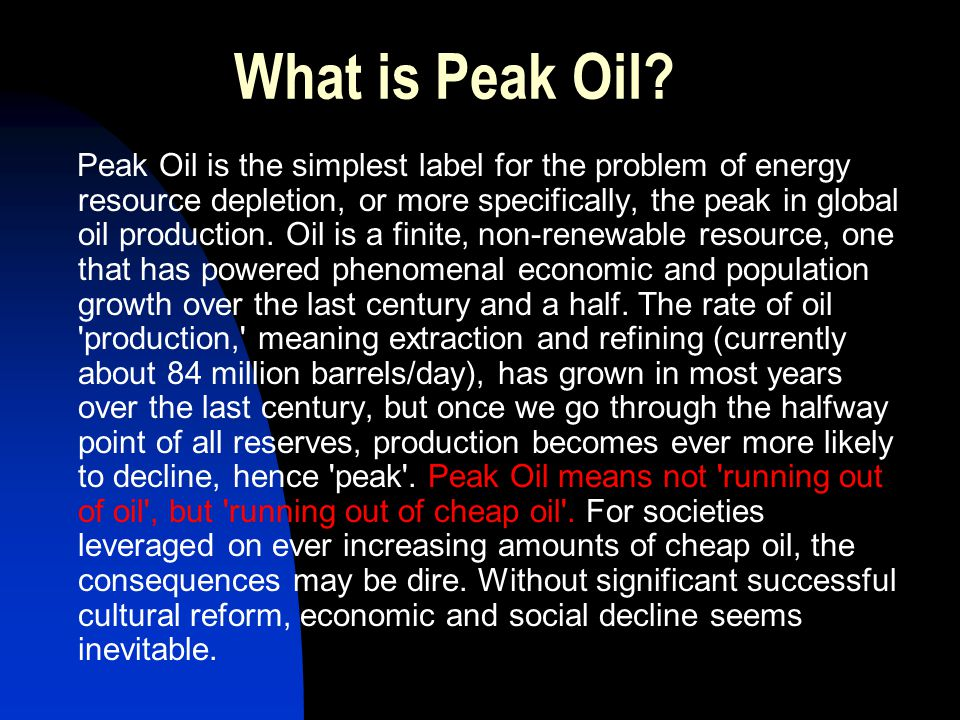 Why does oil peak.Why doesn t it suddenly run out.