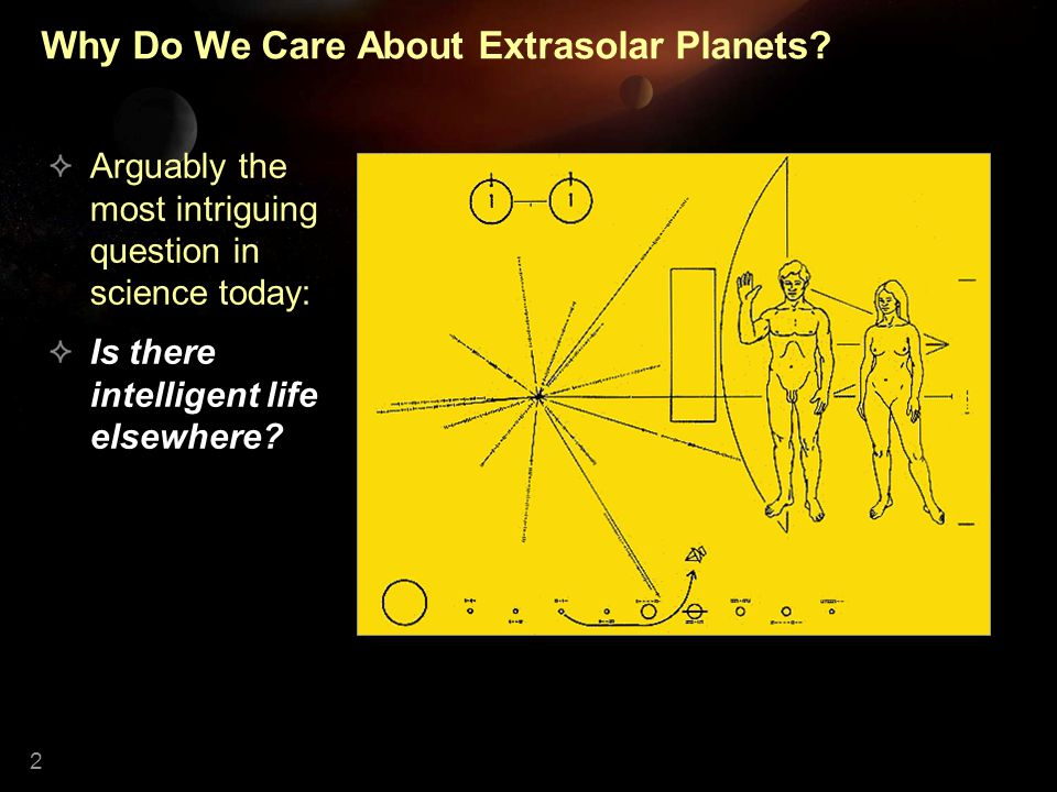 2 Why Do We Care About Extrasolar Planets.