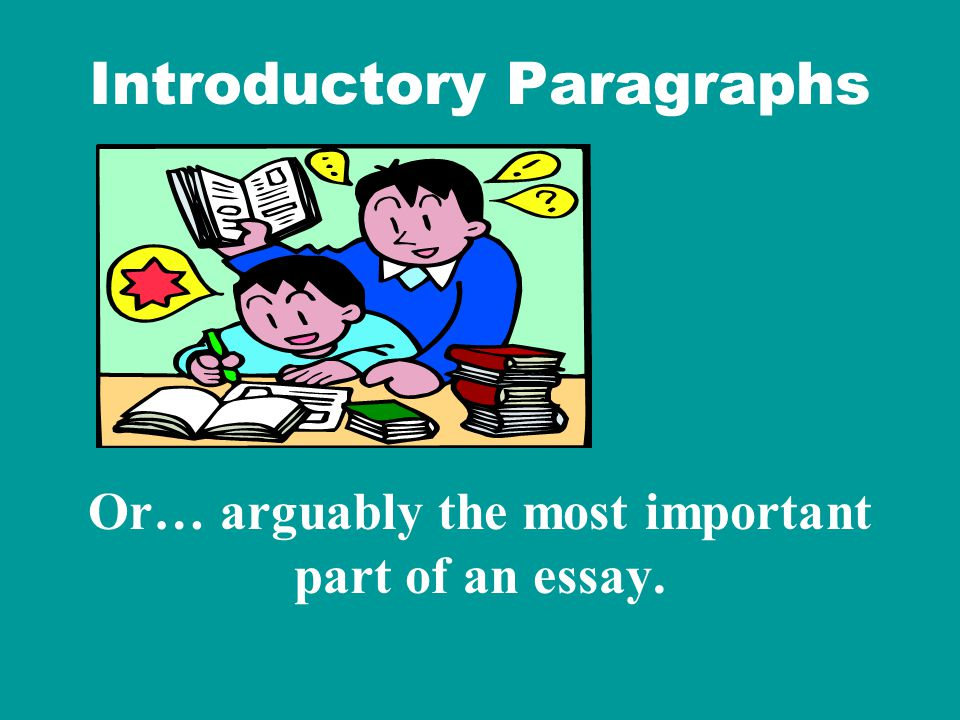 Always keep in mind how crucial the introduction is to your essay's success--- First impressions count heavily, and this is no different for a paper than it is for anything else.