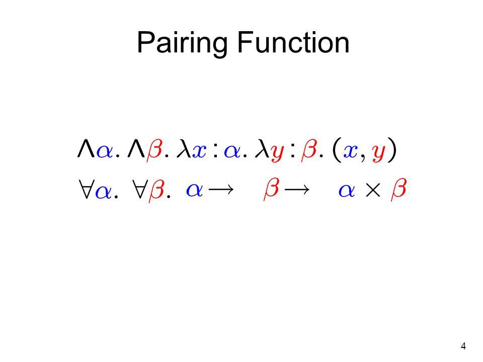 4 Pairing Function