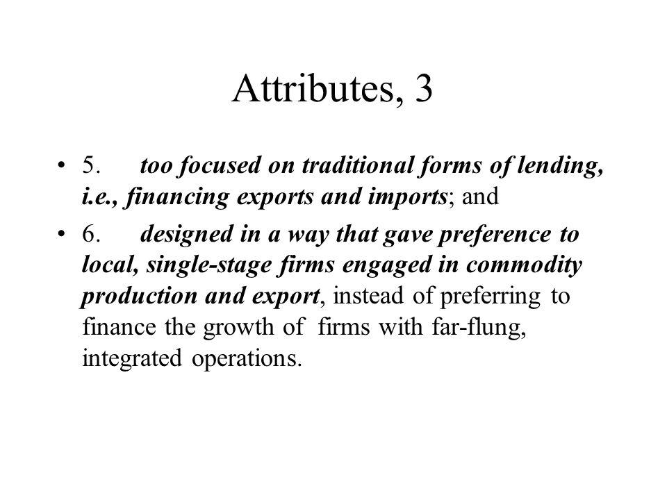 Attributes, 3 5.