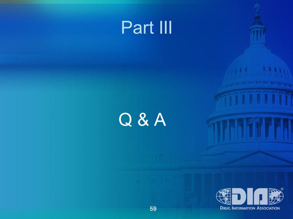 59 Part III Q & A