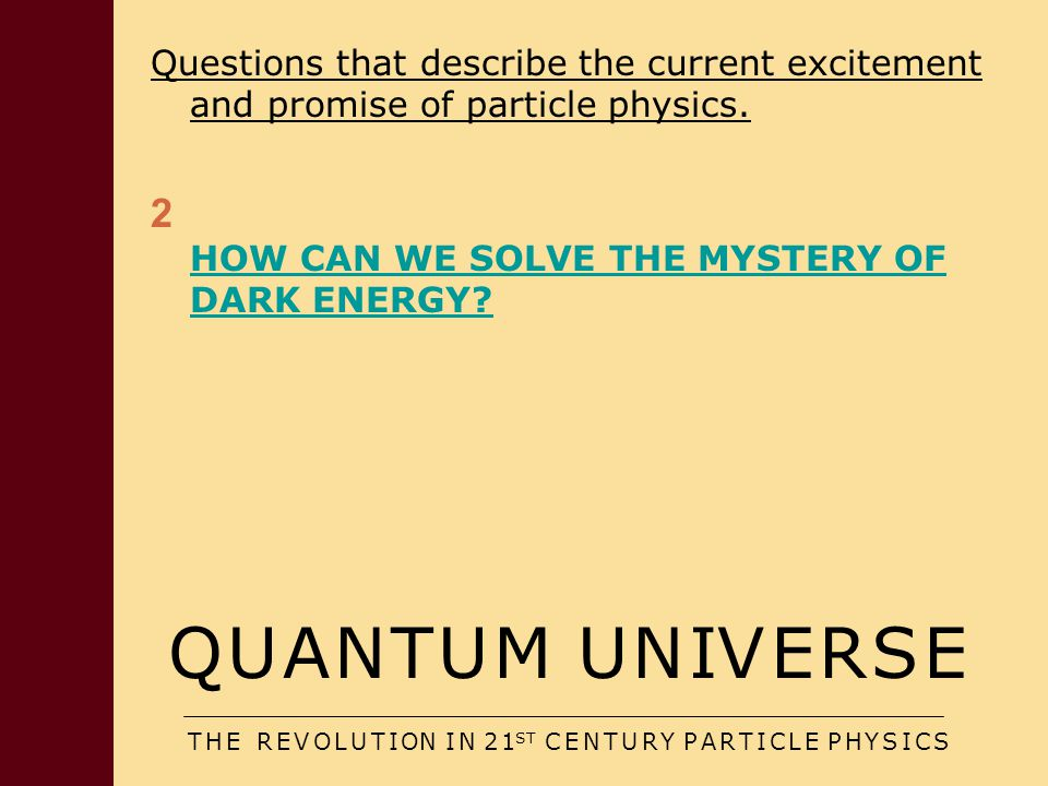 Specific ideas: i) A cosmological constant Nice textbook solutions BUT Deep problems/impacts re fundamental physics  De Sitter limit: Horizon  Finite Entropy  Equilibrium Cosmology Rare Fluctuation Dyson, Kleban & Susskind; AA & Sorbo etc Perhaps saved from this discussion by instability of De Sitter space (Woodard et al)