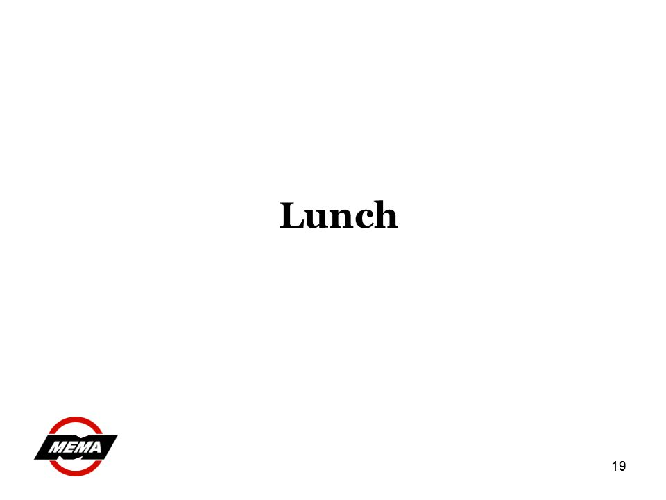 19 Lunch