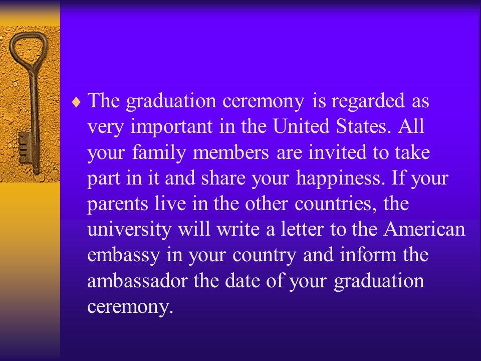 Cultural tip 4: Graduation ceremony  A picture