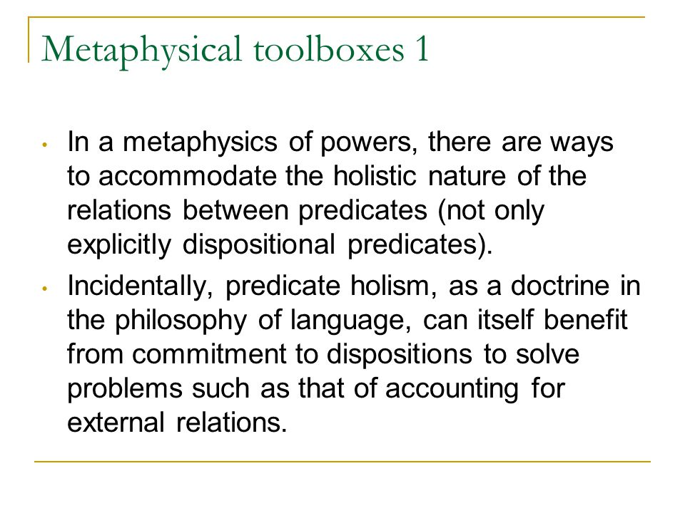 Metaphysical toolboxes 2 A-ism about time makes room to accommodate (some) indexical predicates (like passé , contemporary , current ).