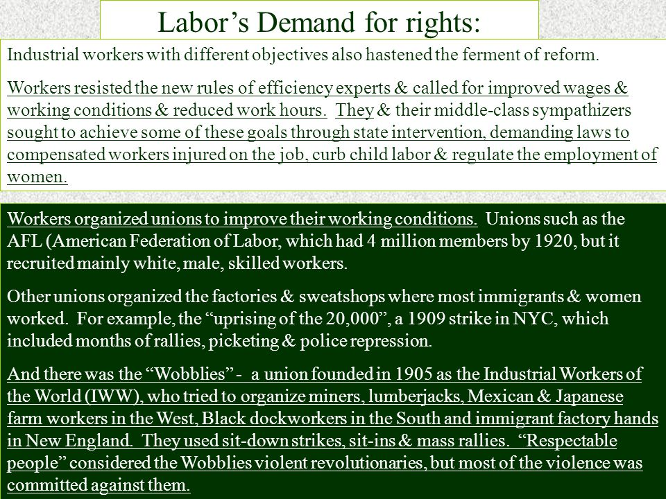 Child Labor- The maiming & killing of children in industrial accidents made it inevitable that efforts to secure a child labor law should be our first venture into the field of state legislation. -The National Child Labor Committee organized in 1904