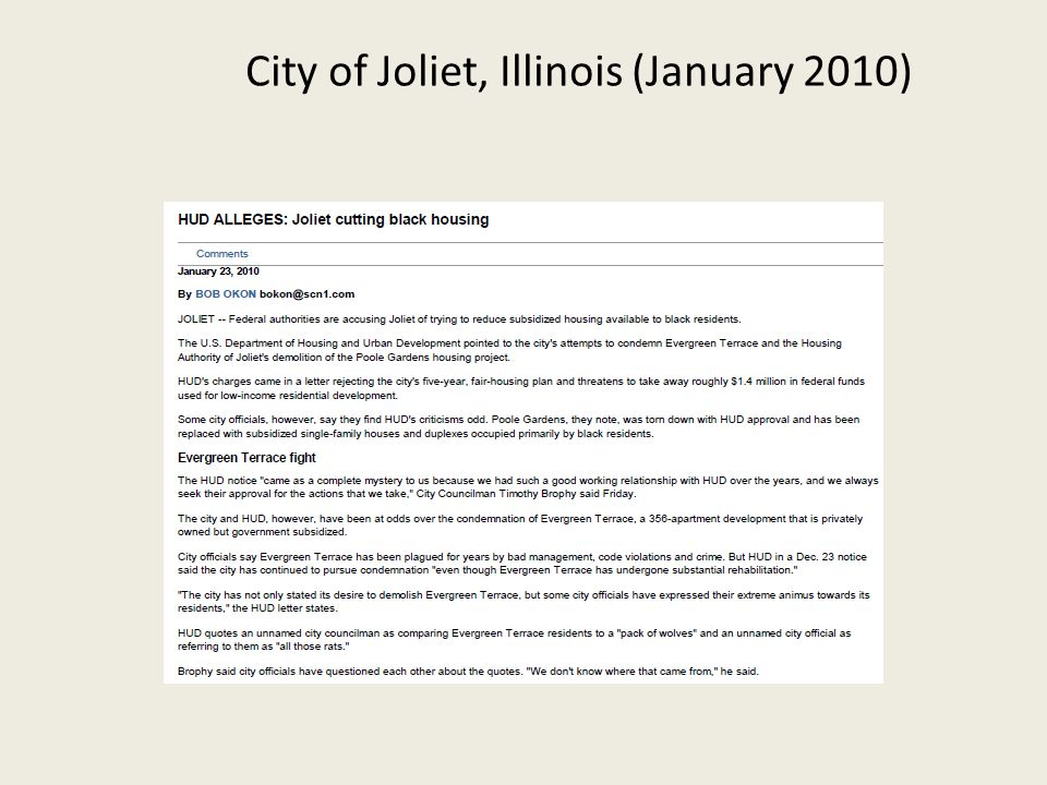 City of Joliet, Illinois (January 2010)
