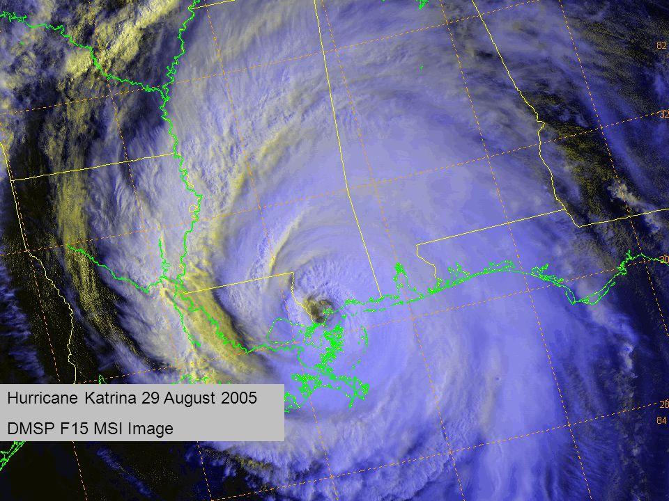 Hurricane Katrina 29 August 2005 DMSP F15 MSI Image