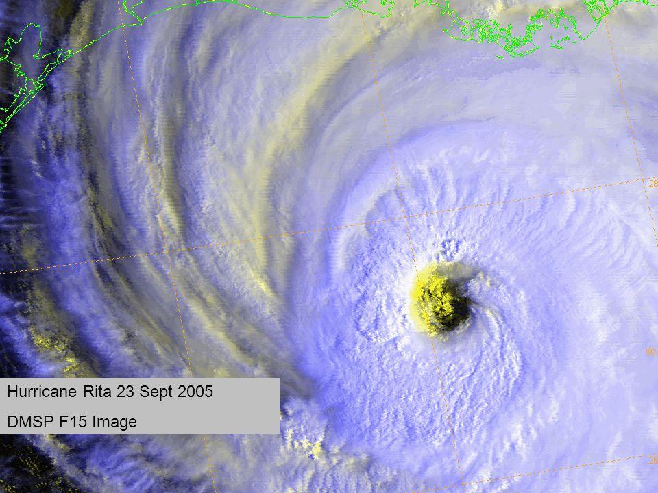Hurricane Rita 23 Sept 2005 DMSP F15 Image