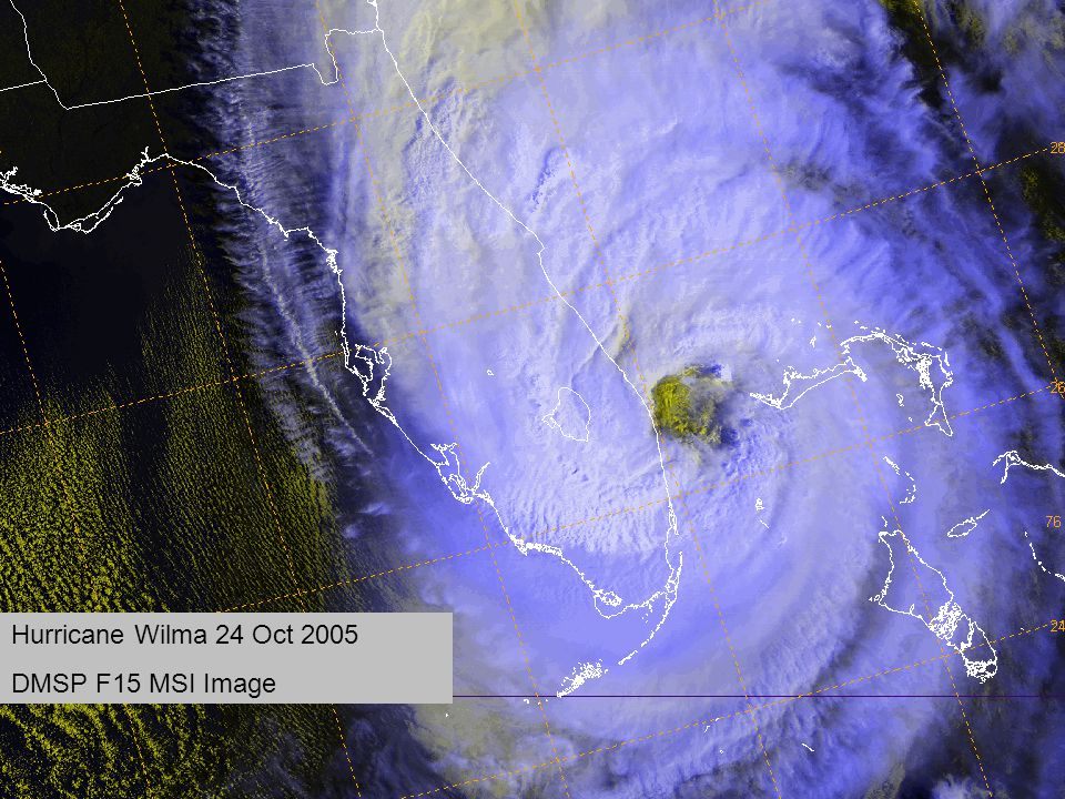 Hurricane Wilma 24 Oct 2005 DMSP F15 MSI Image