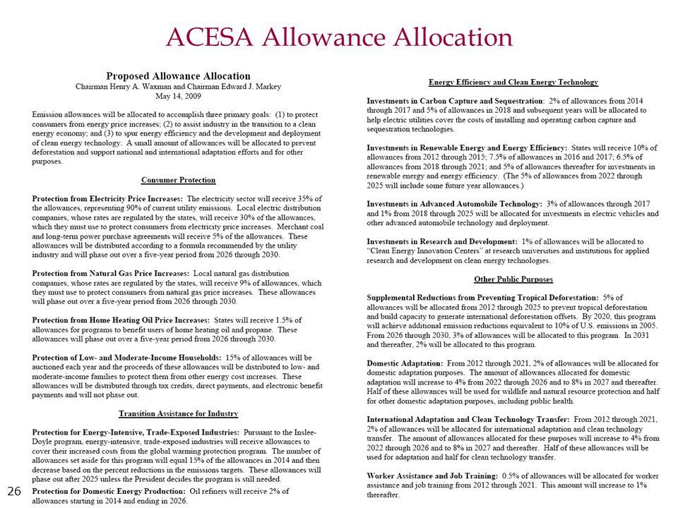 ACESA Allowance Allocation 26