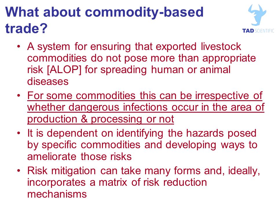 What about commodity-based trade.