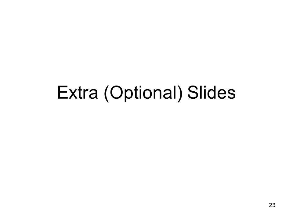 23 Extra (Optional) Slides