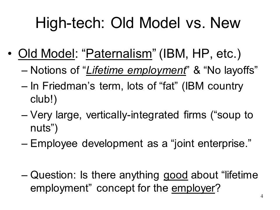 5 High-tech: Old Model vs.