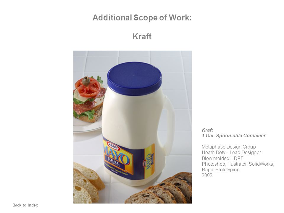 Additional Scope of Work: Kraft 1 Gal.