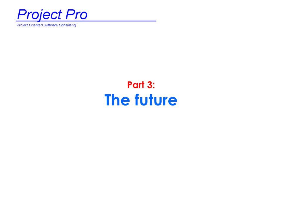 Part 3: The future