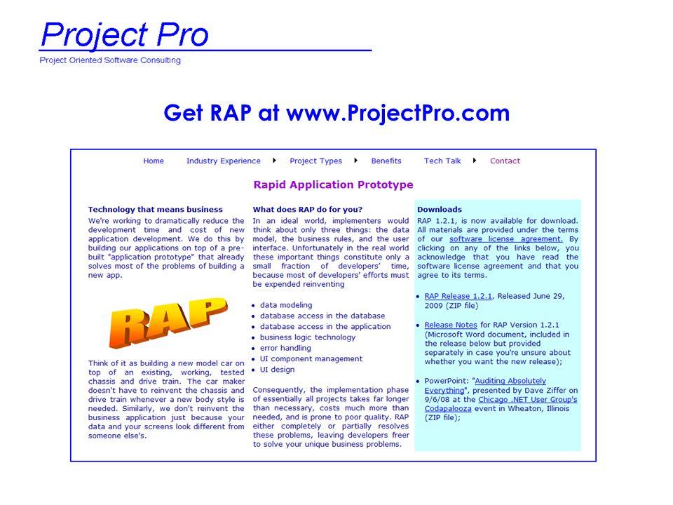 Get RAP at www.ProjectPro.com