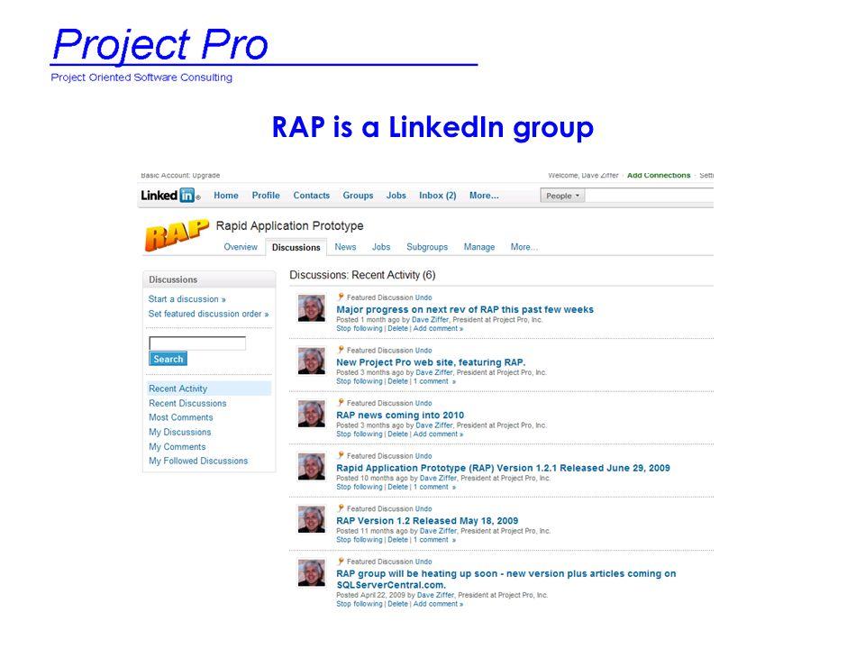 RAP is a LinkedIn group