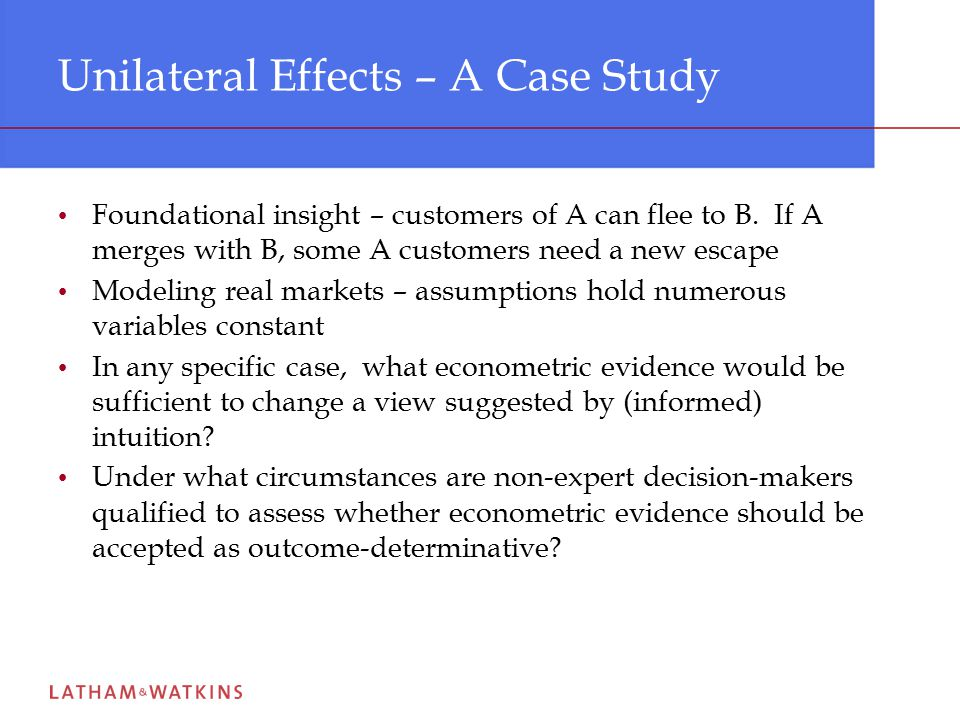 Lessons of Experience Judgment on economic issues – market definition, market power, entry, competitive dynamics – is interactive ( see testimony of Alfred E.