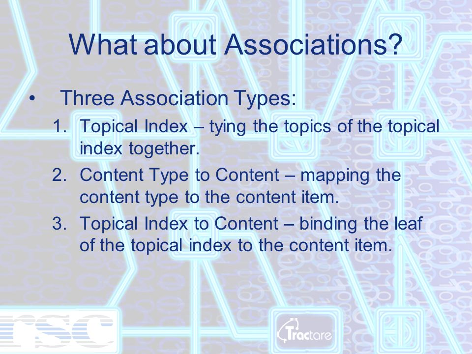 What about Associations.