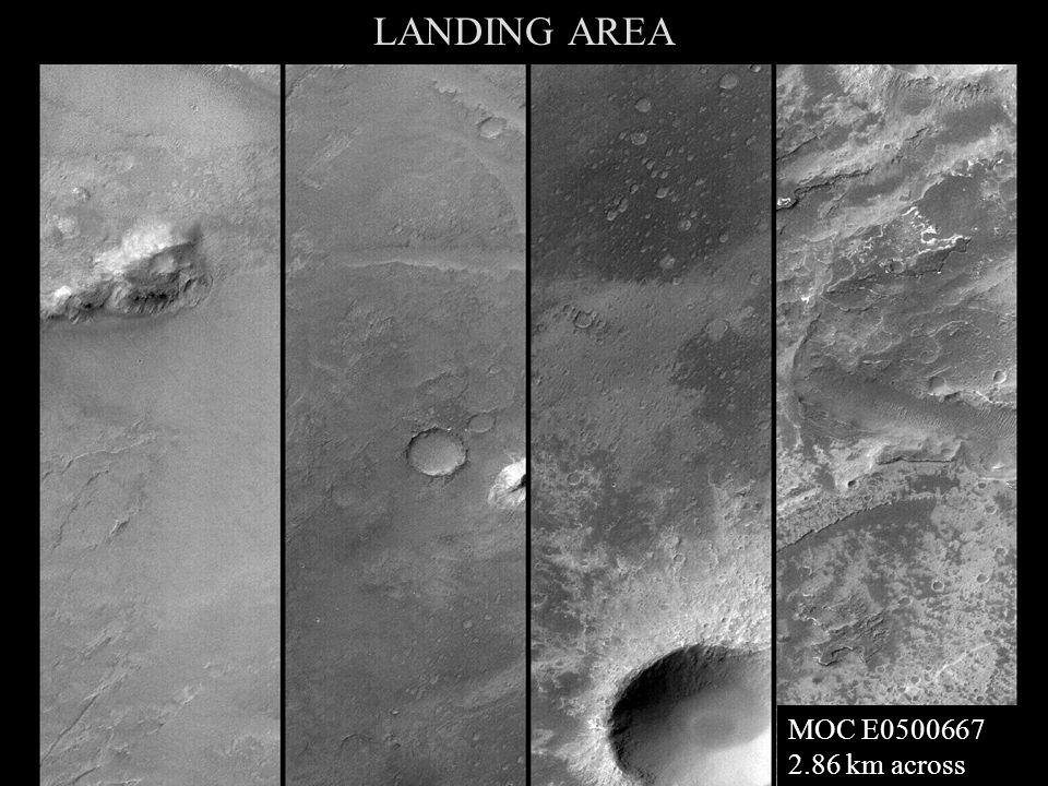 LANDING AREA MOC E0500667 2.86 km across