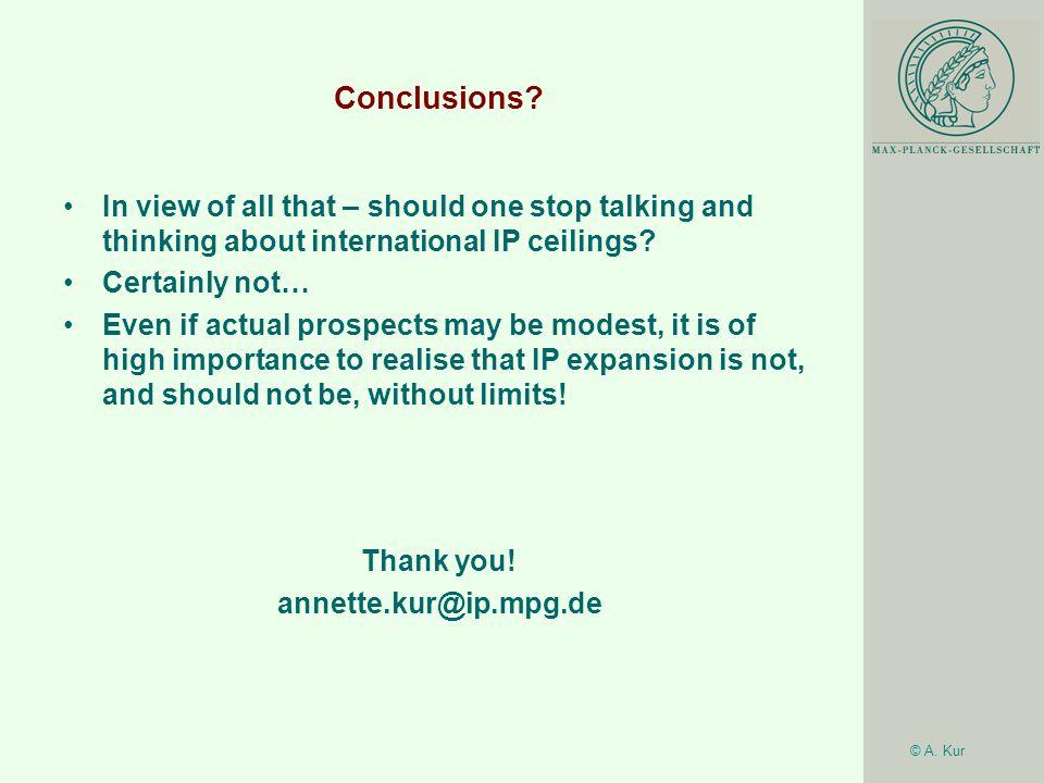 © A. Kur Conclusions.