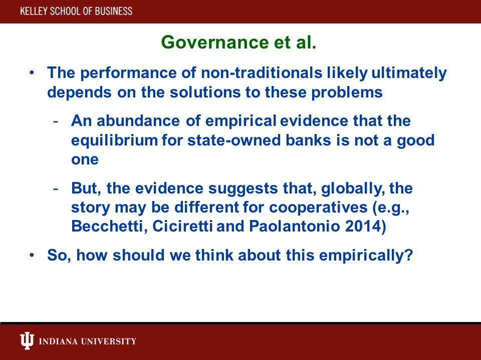 Governance et al.