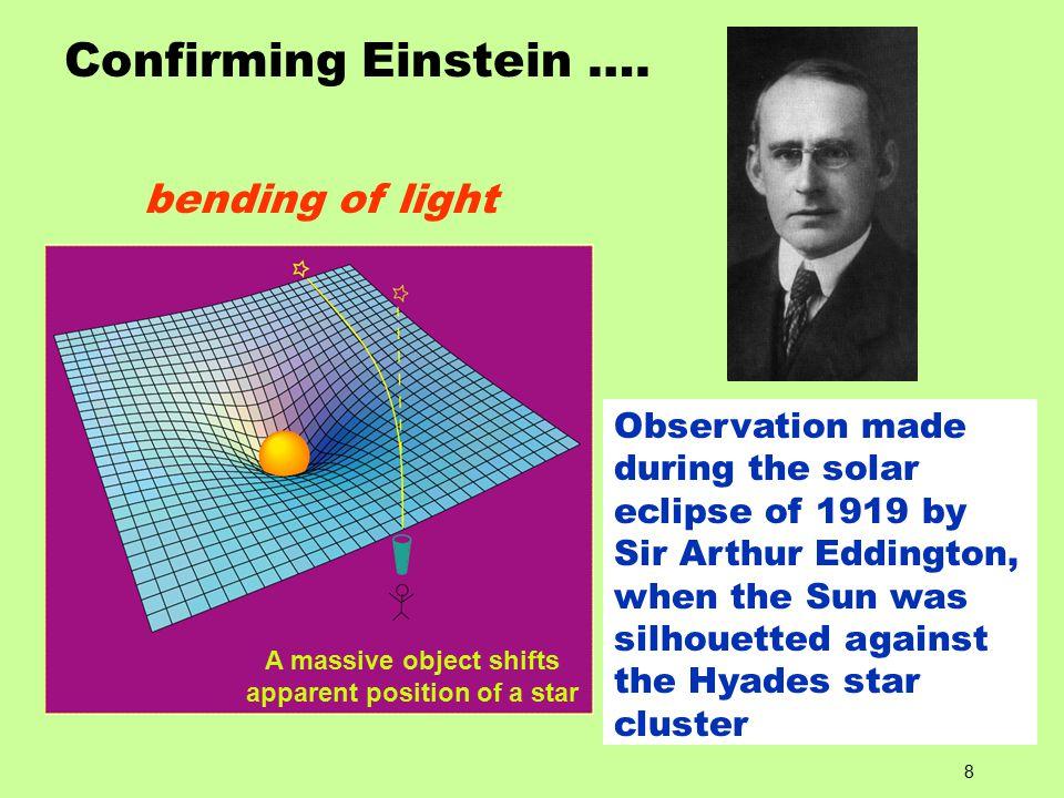 8 Confirming Einstein ….