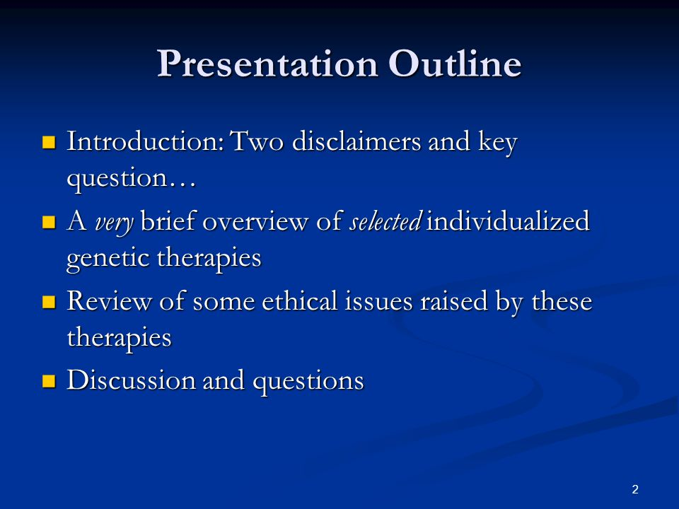 3 Introduction Two disclaimers… Two disclaimers… Pretty heady stuff and presenter has limited expertise on this subject Pretty heady stuff and presenter has limited expertise on this subject Yet another example of very rapid development in genetic research Yet another example of very rapid development in genetic research Limited time to cover a wealth of material Limited time to cover a wealth of material Genetic vaccines and anti-viral therapies Genetic vaccines and anti-viral therapies Transplantation therapies Transplantation therapies Pharmacogenetics and pharmacogenomics Pharmacogenetics and pharmacogenomics Dependent on new and individualized genetic tests Dependent on new and individualized genetic tests