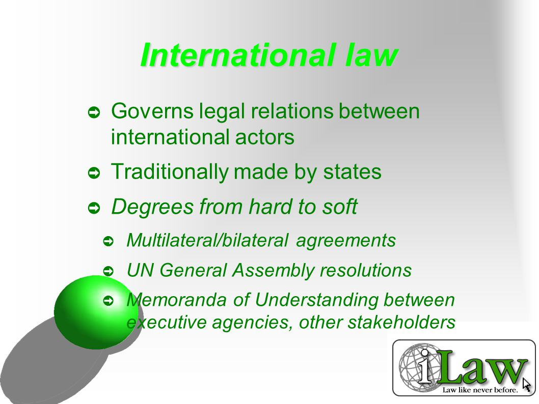 Non-governmental actors ➲ Can a non-governmental group make International law.