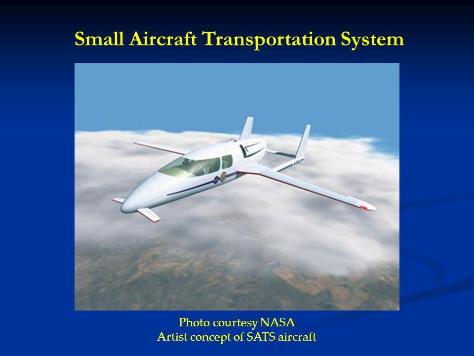 Photo courtesy NASA Artist concept of SATS aircraft Small Aircraft Transportation System