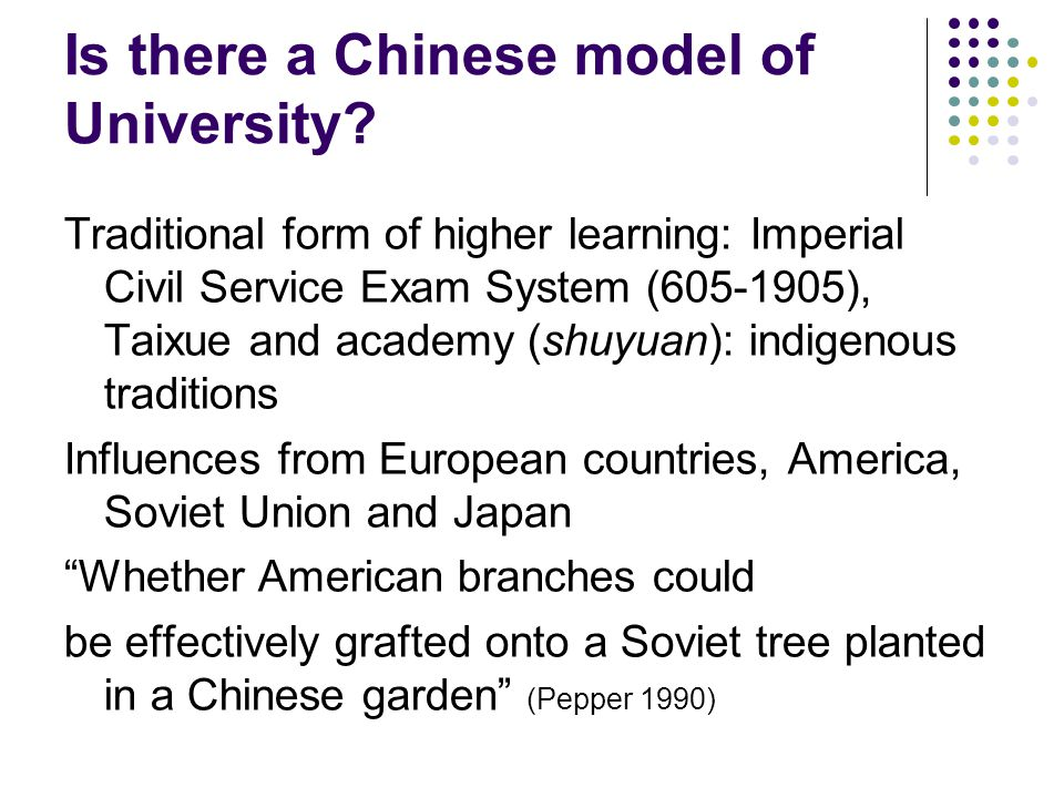Is there a Chinese model of University.