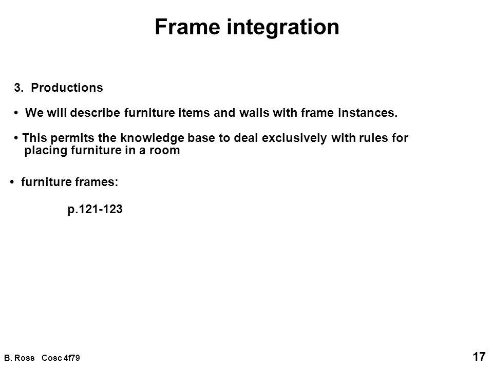 B. Ross Cosc 4f79 17 Frame integration 3.